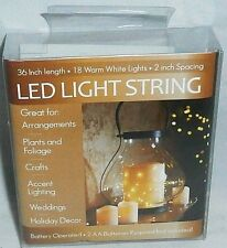 LED Light Strings Battery Operated/36 Inch/18 Warm White/ Crafts,Plants,Holidays