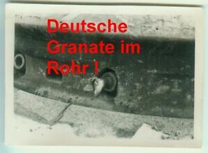 Foto BUNKER DOUAUMONT / Granate im Geschützrohr / FRANKREICH 1940 !!! TOP ! E668