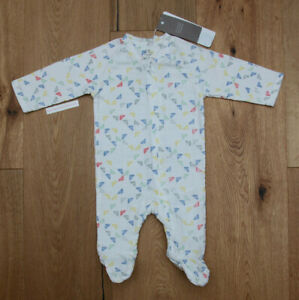 Pink Blue /& Mint Green ~ Aden Anais Baby Girl Long Sleeve Coverall ~ White