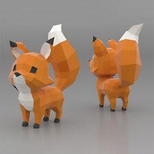 JIKO 30cm Origami Cartoon Fox EPS Paper Animal Model White