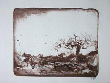 HORST JANSSEN, Original Lithographie 1971, signiert, Landschaft