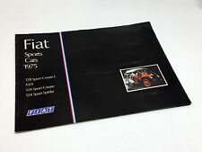 1975 Fiat 128 X1/9 124 Sport Coupe Spider Brochure