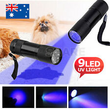 Mini Aluminum 9 LED UV Torch Ultra Violet Flashlight Blacklight Urine Money Lice