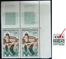 n°1330 variété : lettre fuyante, Laval Mayenne pont, neuf ** tenant à normal BdF