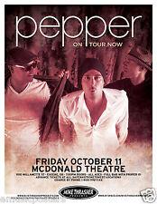 Pepper 2013 Eugene Concert Tour Poster- Alternative Rock, Reggae, Ska, Dub Music