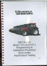 Valtra N & T Hi-Tech Tractor, Bosch TC1 Prog & Calib Procedure, Error Codes Book