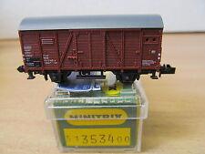 MES-37023Minitrix 3534 SpN Güterwagen DB 1123140-2 sehr guter Zustand,