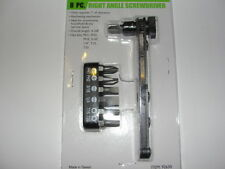 MINI RIGHT ANGLE ANGLED OFFSET HAND RATCHET SCREWDRIVER RATCHETING DRIVER TOOL