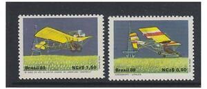 Brazil - 1989 Aerosports (Aircraft) set - MNH - SG 2373/4