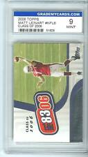 2007 GRADED TOPPS MATT LEINART CLASS OF 2006 ROOKIE MT