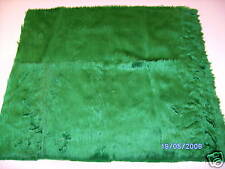 "Quality Dark Green Fur Fabric 18"" X 20""  46cm x 51cm"