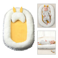Baby Bassinet Bed Portable Baby Lounger For Newborn Crib Sleep Nest w/ Pillow