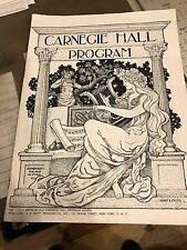 Program Carnegie Hall New York Philharmonic Leonard Bernstein 1959-1960