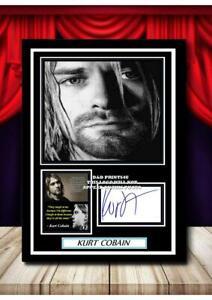 (144)  kurt cobain nirvana signed photograph unframed/framed  (reprint) @@@@@@@