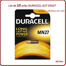 Lot de 10 piles MN27, A27 12V Duracell, livraison rapide et gratuite