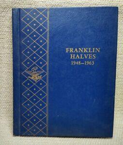 Empty Whitman Coin Album Book Franklin Half Dollar 1948-1963 #9425 210919