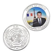 WR Pièce commémorative en argent du président de la France Emmanuel Macron