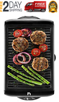 AS SEEN ON TV Smokeless Indoor Electric Grill POWER 1200 Watts Non-Stick BBQ