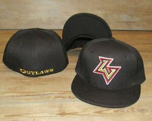 Las Vegas Outlaws XFL Black Fitted Hat Cap Men's Size 7 1/8