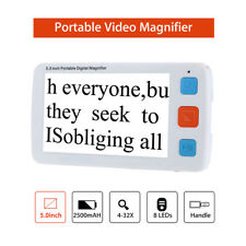 5.0inch HD Colorful LCD Screen Video Digital Magnifier Reader w/Foldable Handle