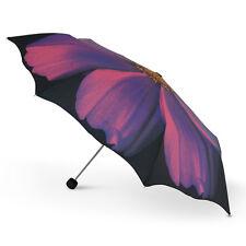New Cascada Collection the Harold Feinstein Purple Cosmo Flower Folding Umbrella