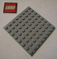 LEGO Medium Stone Grey Plate 8x8 - Element ID 4166618 Design ID 41539 NEW
