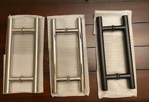 """Shower Door Handle - 8"""" H-Style Ladder Pull (1"""" diameter)"""