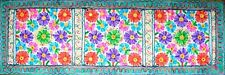 Embroidered Floral Tapestry Wall Hanging Table Bed Runner Woollen Indian RN008