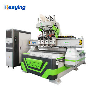 4 Head Multi Spindles Pneumatic Cnc Router Machine 1300*2500mm