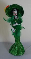 Catrina Mexican Doll Day of Dead Paper Mache Dia de los Muertos Folk Art 118L