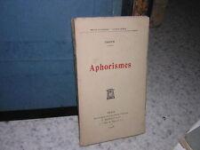 1908. aphorismes / FAGUS
