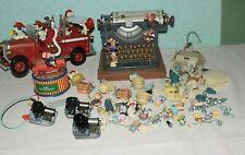 3 x Enesco Spieluhr Spieldose Feuerwehr Schreibmaschine und diverse Ersatzteile