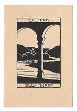 MARIANNE KNAPP: Exlibris für Elly Knapp