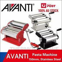 New AVANTI Stainless Steel 150mm / 180mm Pasta Making Machine.   100% Genuine!