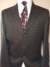 RALPH RALPH LAUREN Soft Brown Black 100% WOOL 3 Btn Tweed Sportcoat Blazer 40R