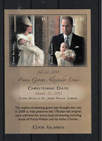 Cook Islands 2014 MNH Prince George Christening 2v M/S Royalty Stamps
