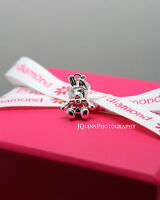 D for Diamond Sterling Silver Rabbit Pendant & Chain