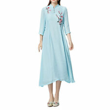 Linen Dresses for Women with Buttons