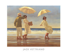 The Picnic Party II by Jack Vettriano Art Print Sand Beach Seascape Poster 20x16
