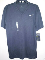 Mens Nike Dri-Fit Training Short Sleeve V-Neck Grey T-Shirt Lightweight New NWT