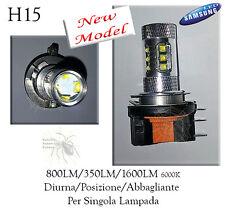 LAMPADA H15 16LED CREE SAMSUNG 800/1600LM DRL DIURNA+ABB CANBUS VW Golf 6/7 Fiat