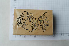 Stampendous Thankful Leaves #M254 rubber stamp Thank You So Much