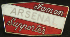 I'AM AN ARSENAL SUPPORTERS Rare vintage badge Brooch pin In gilt 48mm x 25mm