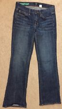 J. Crew Factory 26 Short Stretch Bootcut Whiskered Dark Wash Blue Jeans