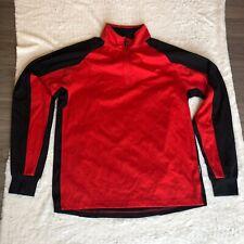 IllumiNITE Mens Size Medium Black Red Reflective 1/4 Zip  Lightweight Jacket