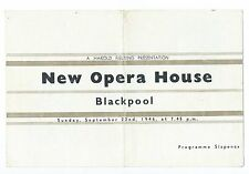 HAROLD FIELDING OPERA HOUSE BLACKPOOL 1946 KAY CAVENDISH GWEN CATLEY FREDDY