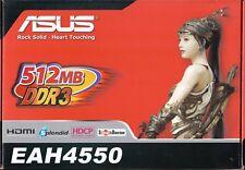 ASUS EAH4550/DI/512MD3/A RADEON HD4550 512MB DDR3 PCIE-X16 VIDEO CARD - NEW!