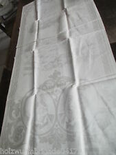 RARE OLD TEA TOWEL TOWEL Table Runner Motif Zeppelin + Portraits (180)