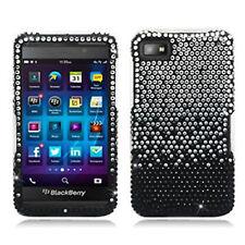 For BlackBerry Z10 Crystal Diamond BLING Hard Case Phone Cover Gradient Black