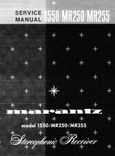 Service Manual-Anleitung für Marantz 1550,MR 250,MR 255